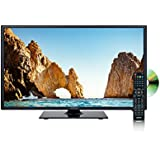 AXESS TVD1805-19 19-Inch LED HDTV DVD Combo, Features AC/DC Technology, 1xHDMI/Headphone Inputs, DVD Player with Full Function Remote