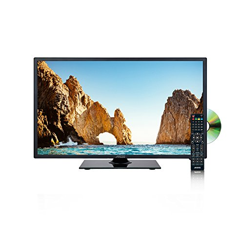 Inch LED HDTV DVD Combo, Features 1xHDMI/Headphone Inputs, DVD Player with Full Function Remote ()