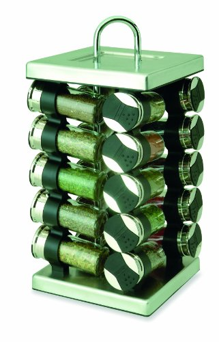 Olde Thompson 20-Jar Stainless-Steel Square Spice Rack
