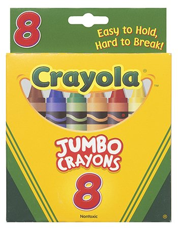 Crayons Jumbo 8Ct Peggable Tuck Box [Case of 15] by MyDirectAdvantage