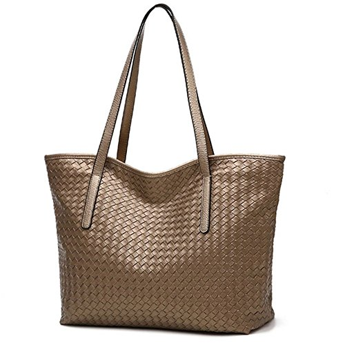 Mosierbizne The New Woven Handbag Large Capacity Pu Handbags(3)