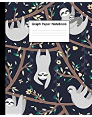 Graph Paper Notebook: Quad Ruled 5 x 5 (.20'') Graphing Paper Composition Book for Math Science Students Teachers - 5 Squares per Inch, Large - Nifty Mother & Baby Sloth Print