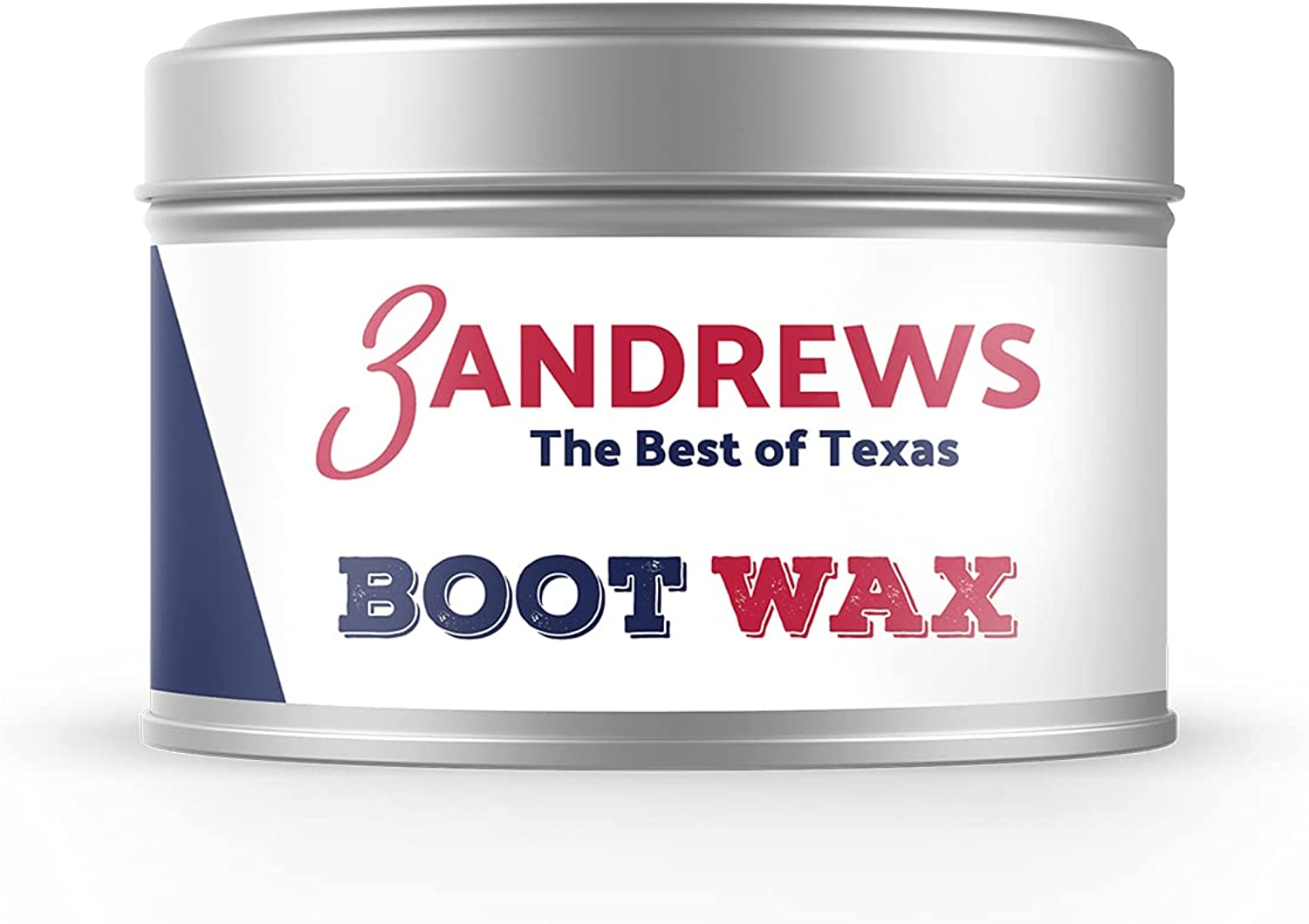 3 Andrews - Boot Wax, Natural Beeswax Boot Polish, Leather Cleaner and Conditioner for Furniture, 7oz
