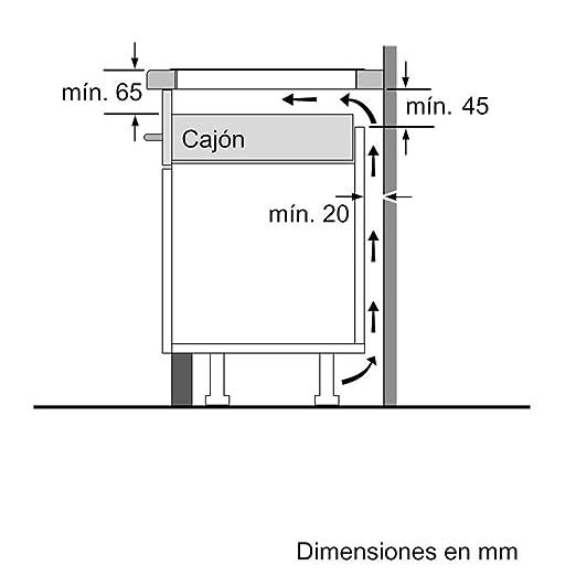 Balay 3EB865FR - Placa de inducción de 60 cm de ancho, bisel delantero, 3 zonas de inducción, control táctil, color negro