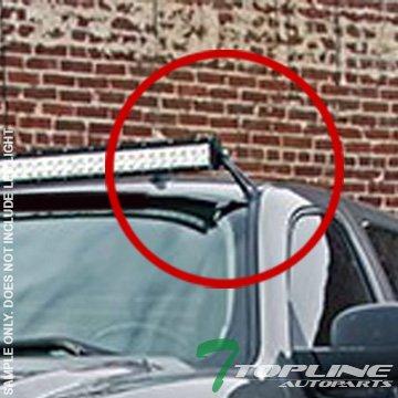 Topline Autopart Black Roof Pillar Light Lamp Bar Mount Brackets Kit For 50