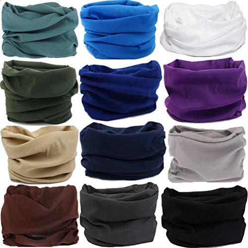 6PCS/8PCS/9PCS/12PCS Seamless Headband camo Bandanas Headwear for Men&Women Neckwarmer Scarf 16-in-1 Multifunctional for Music Festivals Raves Neck Gaiter Magic Scarf Fishing Mask Sweatband(A9(12PCS)