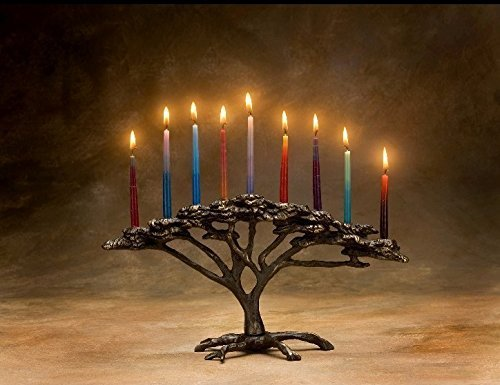SCOTT NELLES STUDIOS Tree of Life Menorah