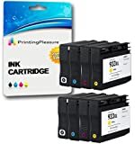 Printing Pleasure 8 (2 SETS) Compatible Ink Cartridges Replacement for HP 932XL HP 933XL for HP Officejet 6100 6600 6700 7110 7600 7610 7612 - Black/Cyan/Magenta/Yellow, High Capacity