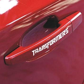 Amazoncom 4 Pcs Aulyn Transformers Car Door Handle Stickers Car