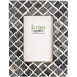 Eccolo Naturals Frame, 4 by 6-Inch, Moorish Tiles Gray