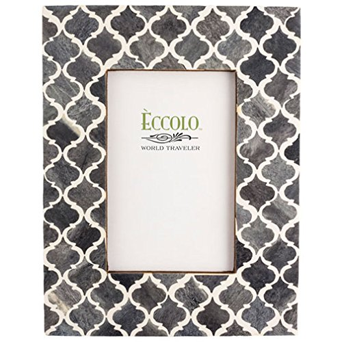 Eccolo Naturals Frame, 4 by 6-Inch, Moorish Tiles - Picture Masculine Frames