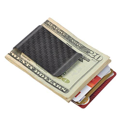 Carbon Fiber Money Clip Minimalist Wallet Front Pocket Slim Wallet Credit Business Card Holder – PAL&SAM   Glossy Black