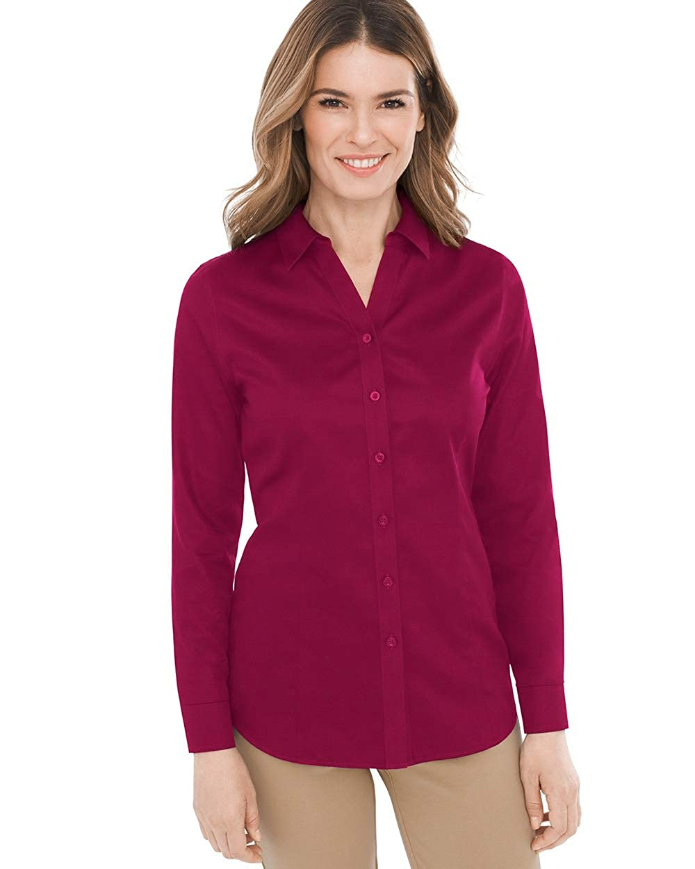 Chicos Womens No Iron Sateen Caroline Shirt At Amazon Womens