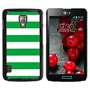 Graphic4You Color Stripes Pattern Design Hard Case Cover for LG Optimus L7 II (Green) by ruishername