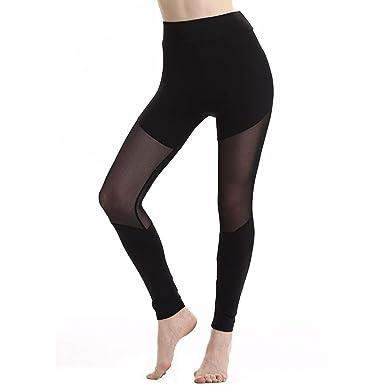 YOUBan Damen Leggings Freizeithosen Fitness Yogahose Patchwork Mesh  Leggings sporthose lang Hosen Jogginghose Trainingshosen Laufbekleidung ( c67d7976fb