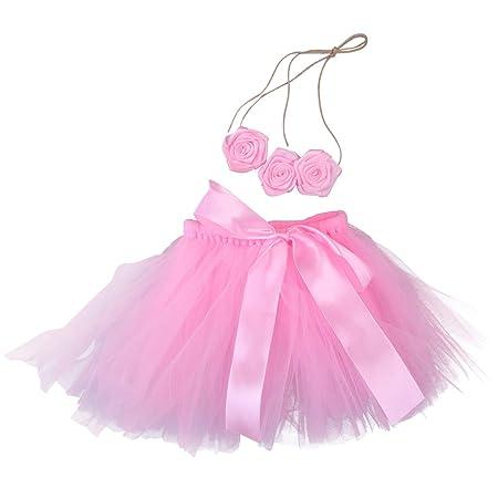 Toyvian Conjunto de Falda de tutú para bebé niña con Venda de ...