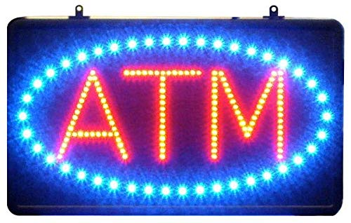 "Amazon.com: 22"" Blue & LED rojo señal ATM con Oval ..."