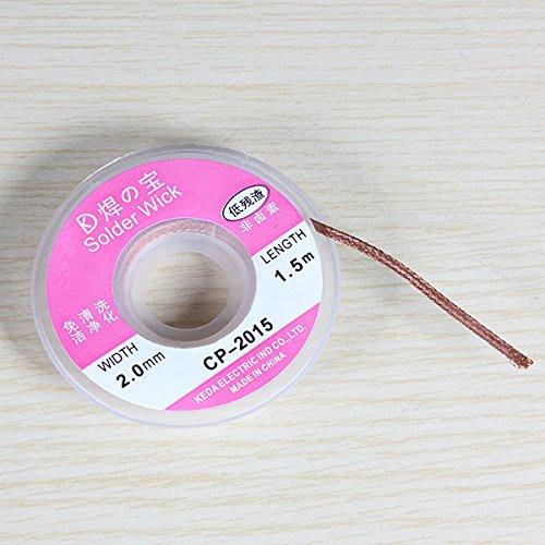Doradus 2.0mm 0.75m tresse à dessouder soudure décapant fil de câble de mèche SKUDO49770