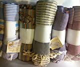 Simten's ORGANIC COTTON MULTI PURPOSE USE PESTEMAL: Beach, Pool, Spa, Sauna, Yoga, Gym, Blanket, Pareo, Towel even as Table Cloth (Color Vary)
