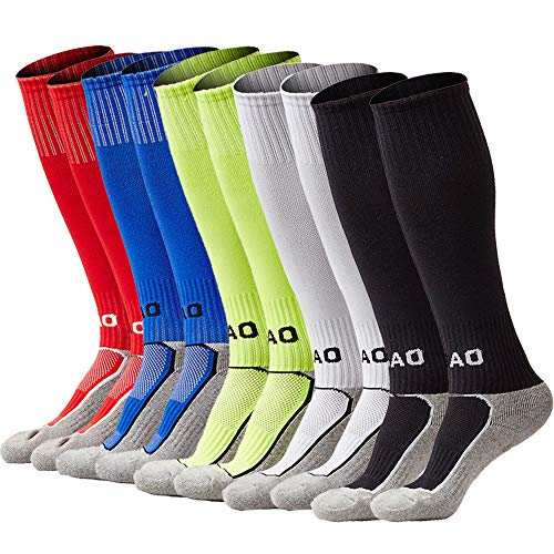 - xikun Kids Soccer Socks Boys Girls Knee High Long Sport Compression Football Socks