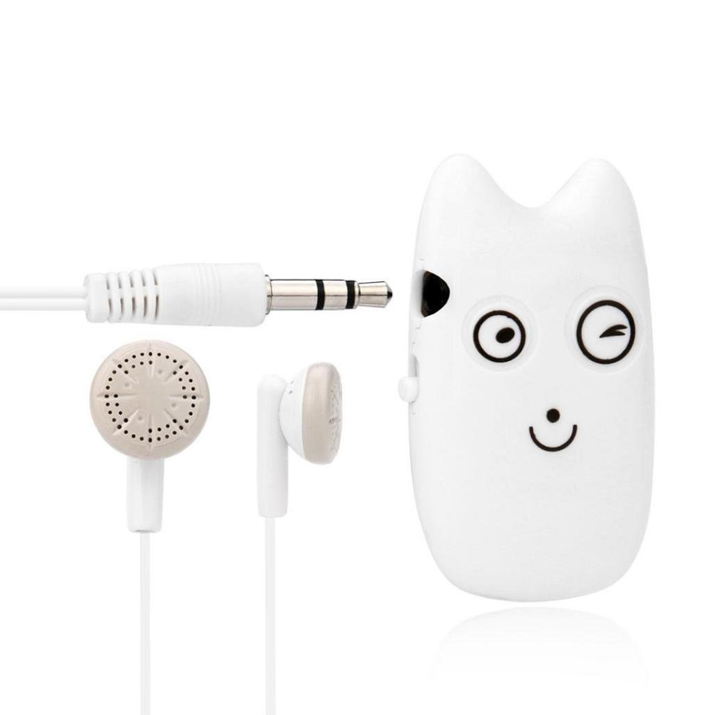 Mini-clip emoji Reproductor de MP3 portatil apoya la tarjeta micro del SD TF 32GB con auriculares in ear headphone con cable 3.5mm de alta calidad deportivos by Sannysis (E) [Clase de eficiencia energética A+++]