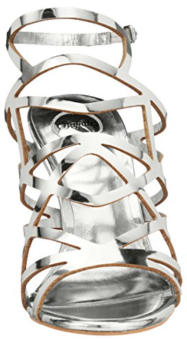 PU Plateado para 2933 Pulsera 317 Silver Mujer Mirror Sandalia Buffalo con FtBqwz1