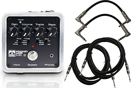 Palmer PEPAMP MKII Pocket Amplifier Pedal w/ 4 Cables by Palmer