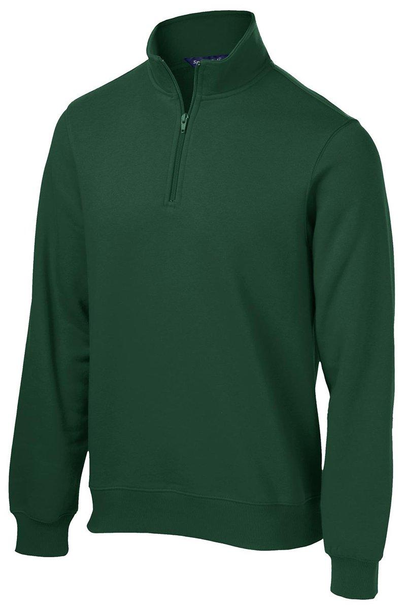Sport-Tek Men's 1/4 Zip Sweatshirt XXL Forest Green