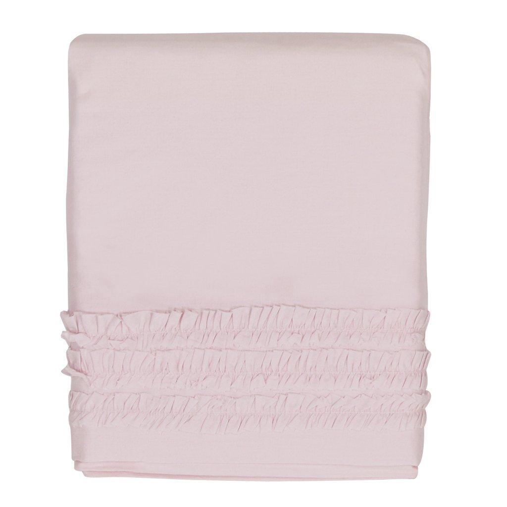 Hello Spud - Crib Skirt Petite Ruffle Pink - Cotton - 15 Inch Drop HS-CSKT-000021