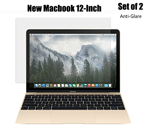 """CaseBuy® 12-Inch Anti-Glare Anti-Scratch Screen Protector Guard Film Cover Skin(Set of 2) for New MacBook 12"""" with Retina Display A1534 (2015 Release)"""
