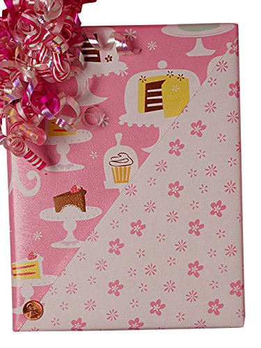 24'' X 100' Cake And Flowers Gift Wrap by Paper Mart
