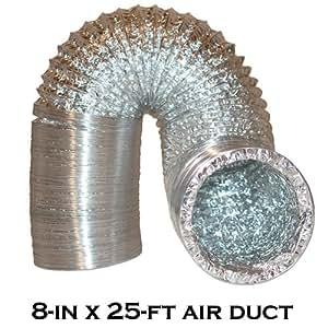 8'x 25' Premium alto grado de conducto de aire conducto para hidroponía ventiladores filtros de carbono