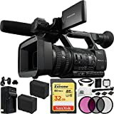 Sony HXR-NX5N / HXR-NX5U Camcorder 32GB Bundle 17PC Accessory Kit Includes SanDisk 32GB Extreme SD + 2 Replacement F970 Batteries + 3PC Filter (UV-CPL-FLD) + MORE