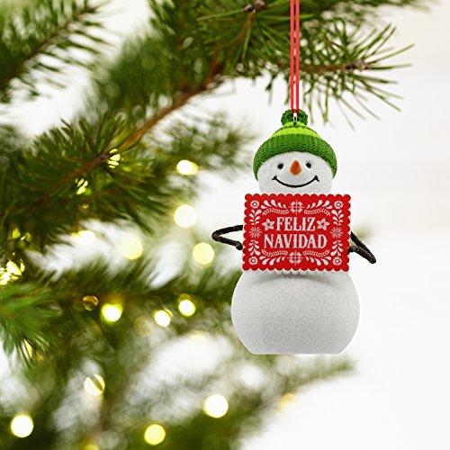 5bfb04d8aa438 Amazon.com  Hallmark VIDA Christmas Ornament Snowman Feliz Navidad Spanish   Home   Kitchen
