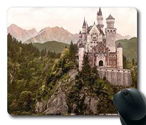 Neuschwanstein Castle Bavaria Germany Masterpiece Limited Design Oblong Mouse Pad by Cases & Mousepads by Maris's Diary