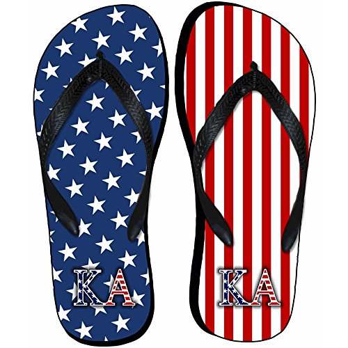 Express Design Group Kappa Alpha Chanclas De La Bandera Estadounidense