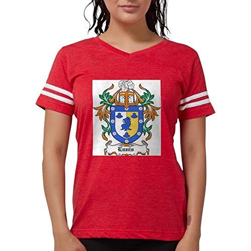- CafePress Ennis Coat Of Arms Ash Grey T-Shirt - Womens Football Shirt