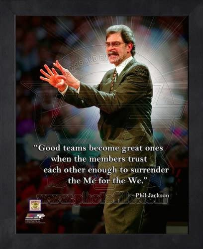 NBA Phil Jackson Chicago Bulls Pro Quotes Framed 11x14 Photo #1