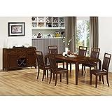 Monarch Specialties 1935 Rectangular Dining Table in Brown Oak