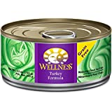 Wellness Complete Health Grain Free Turkey Natural Wet Canned Cat Food, 5.5-Ounce Can (Pack of 24)