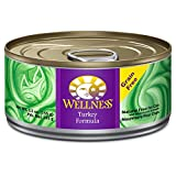 Wellness Complete Health Natural Canned Grain Free Wet Cat Food, Turkey Pate, 5.5-Ounce Can (Pack of 24)