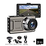 Cheap Dash Cam Denicer 1080P Car DVR Dashboard Camera Full HD with 3″ LCD Screen 170°A+ Grade Ultra Wide-angle 6G Lens, 1200 Mega,Wide Angle, WDR, G-Sensor, Loop Recording Night Vision 32G SD HD Card (M10T)