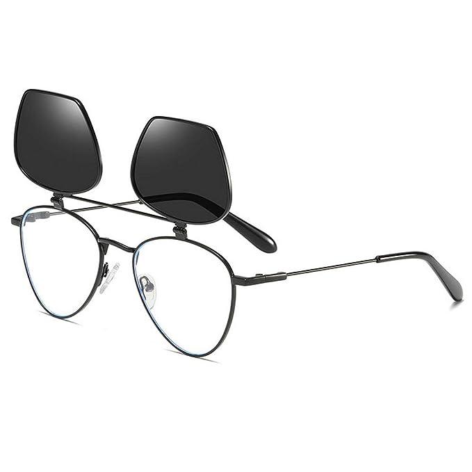 Amazon.com: MINCL/2019 - Gafas de sol unisex, redondas ...
