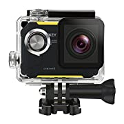 Amazon Lightning Deal 95% claimed: Action Camera, AUKEY HD 1080P Wi-Fi Waterproof Sport Camera with 170°Wide Angle Lens for Biking, Surfing, Gliding, Diving and Other Sports