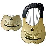 New Lyre Harp 10 Metal Strings Shesham Wood/Lyra Harp Free Soft Case & Key