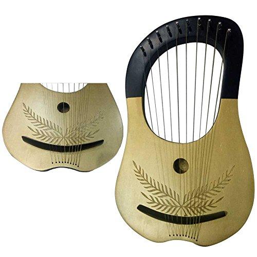 New Lyre Harp 10 Metal Strings Shesham Wood/Lyra Harp Free Soft Case & Key by Clan Tartan