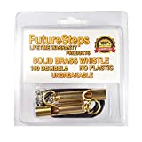 FutureSteps Loudest Brass Whistles | Two Premium Brass Whistles 20 inch Real Leather