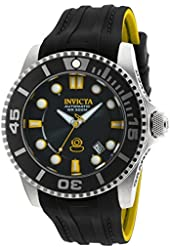 Invicta Pro Diver Automatic Black Dial Black and Yellow Silicone Mens Watch 20199