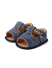 AMA(TM) Toddler Baby Girls Boys Summer Denim Sandals Soft Sole Crib Shoes