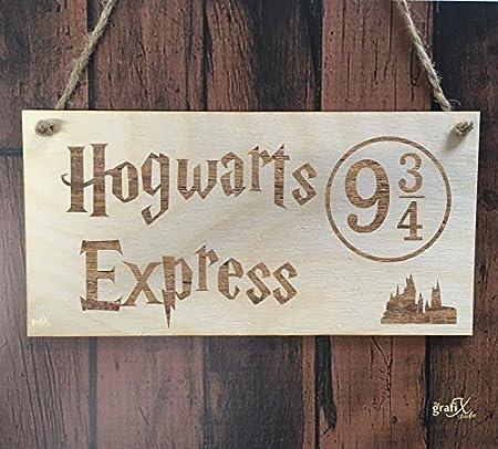 Amazon.com: hiusan Hogwarts Express tren Letrero De Madera ...